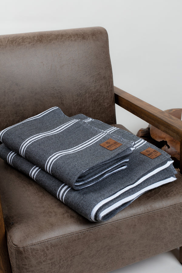 Charcoal Drummond Blanket - Wolfe Co. Apparel and Goods®