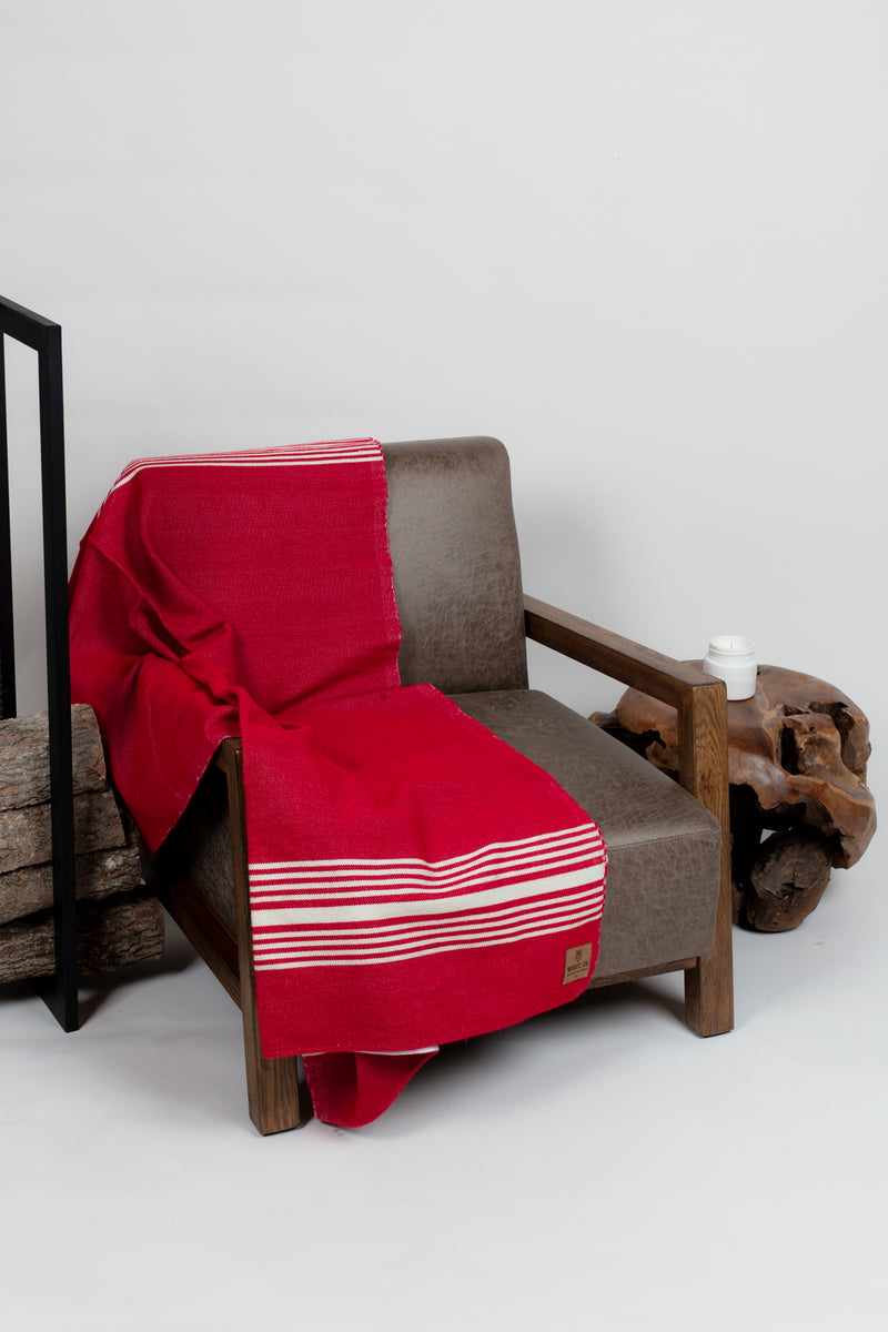 Red Drummond Blanket - Blankets - Wolfe Co. Apparel and Goods