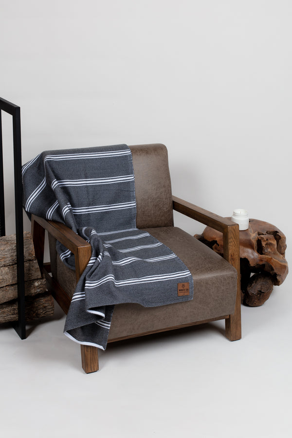 Charcoal Drummond Blanket - Blankets - Wolfe Co. Apparel and Goods