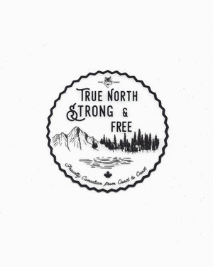 True North Strong and Free Sticker - Wolfe Co. Apparel and Goods
