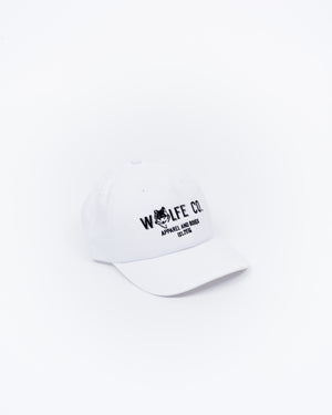 White Ballcap - Wolfe Co. Apparel and Goods