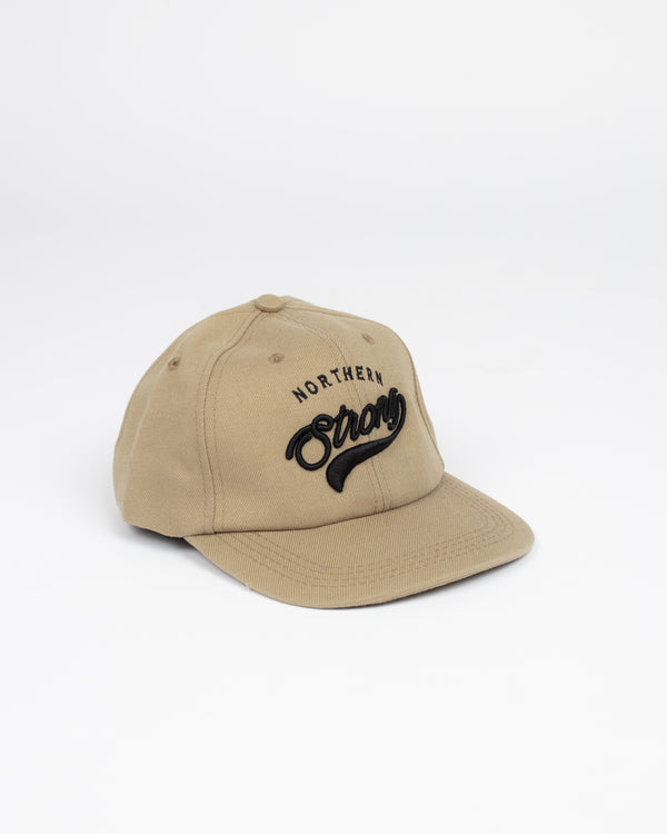 Northern Strong Khaki Snap Back - Hats - Wolfe Co. Apparel and Goods