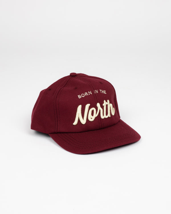Born in the North Burgundy Snap Back - Hats - Wolfe Co. Apparel and Goods