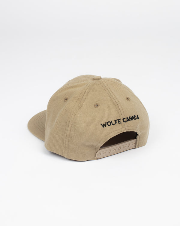 Born in the North Khaki Snap Back - Hats - Wolfe Co. Apparel and Goods