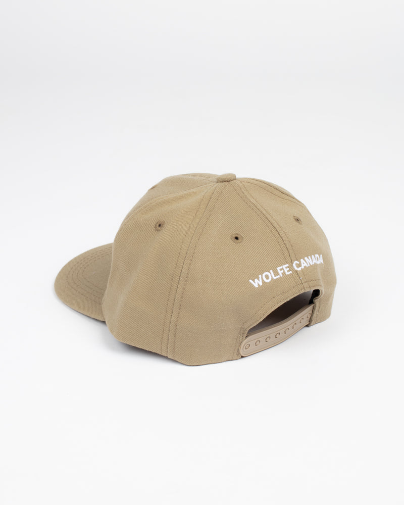 Sorry, Eh? Khaki Snap Back - Hats - Wolfe Co. Apparel and Goods