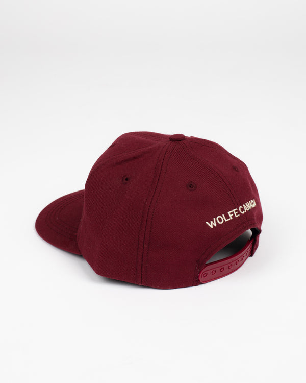 Northern Strong Burgundy Snap Back - Hats - Wolfe Co. Apparel and Goods