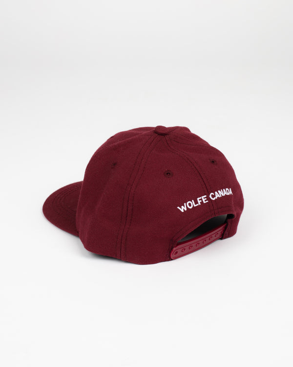 Sorry, Eh? Burgundy Snap Back - Hats - Wolfe Co. Apparel and Goods
