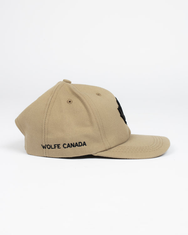 Maple Leaf Khaki Snap Back - Hats - Wolfe Co. Apparel and Goods