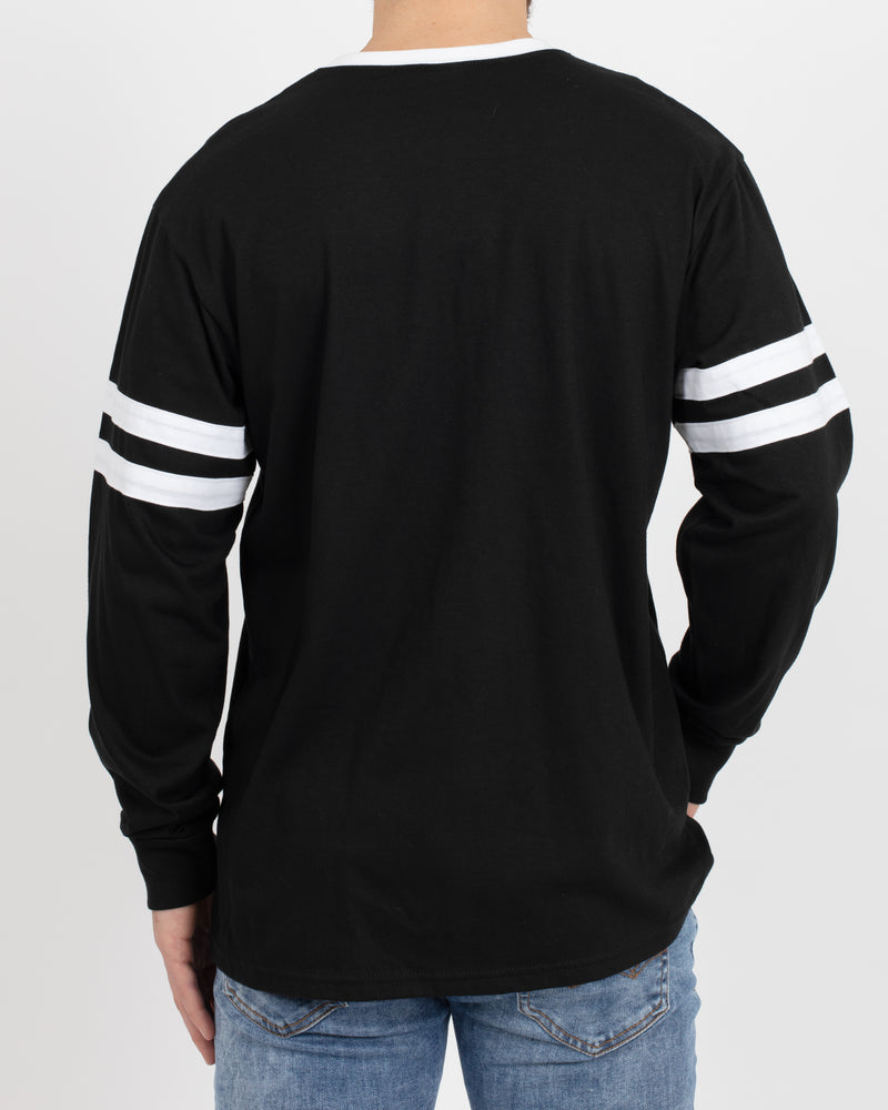 Reilly Varsity Long Sleeve Shirt - Tops - Wolfe Co. Apparel and Goods