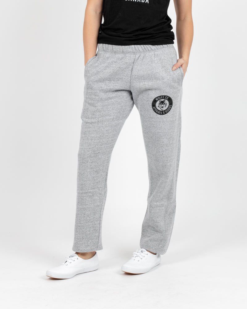 Marled White Vintage Sweatpants - Bottoms - Wolfe Co. Apparel and Goods