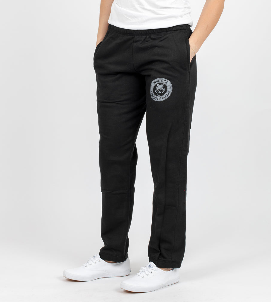 Black Vintage Sweatpants - Bottoms - Wolfe Co. Apparel and Goods