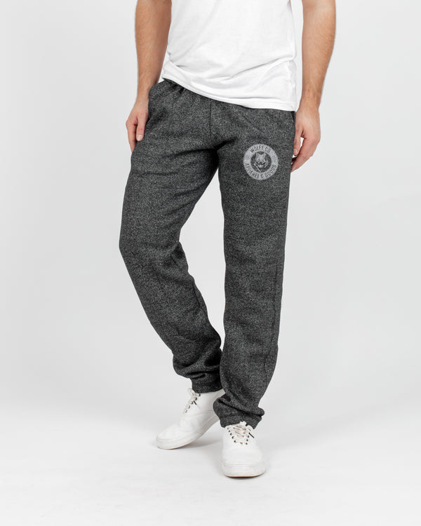 Marled Black Vintage Sweatpants - Bottoms - Wolfe Co. Apparel and Goods