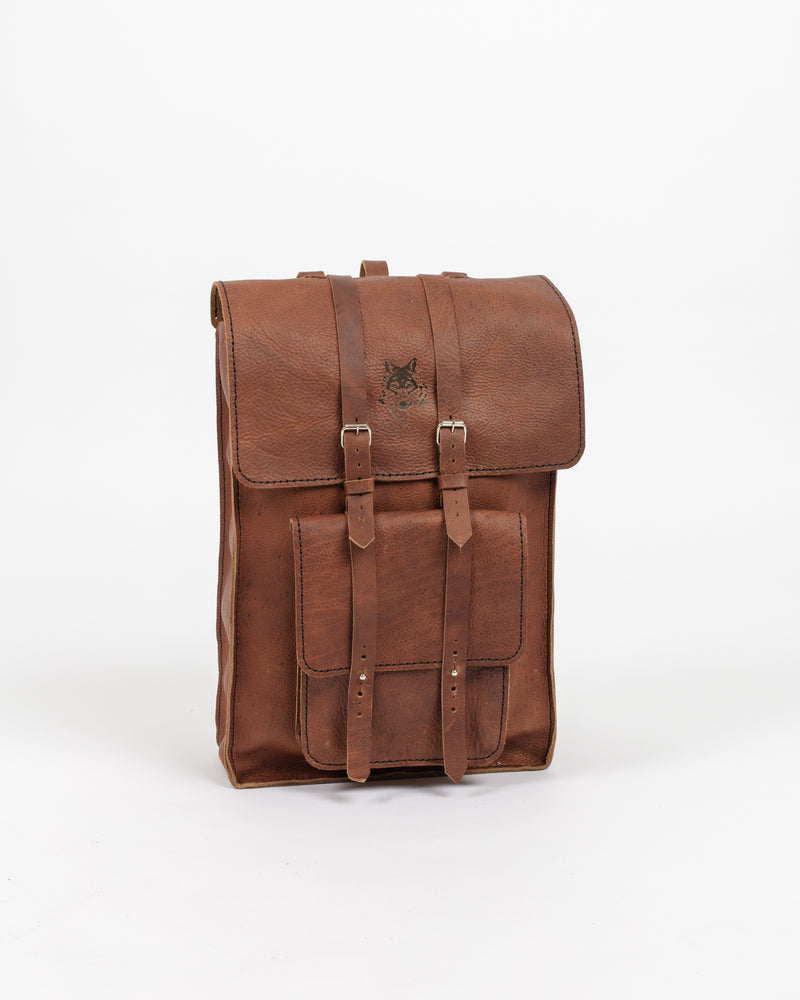 English Tan Day Pack - Backpack - Wolfe Co. Apparel and Goods