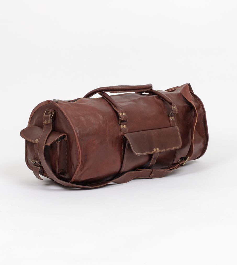 Victoria Round Duffel Bag - Victoria Duffel Bag - Wolfe Co. Apparel and Goods