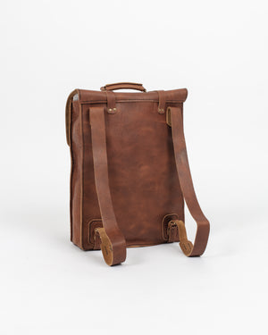 English Tan Leather Travel Pack - Wolfe Co. Apparel and Goods