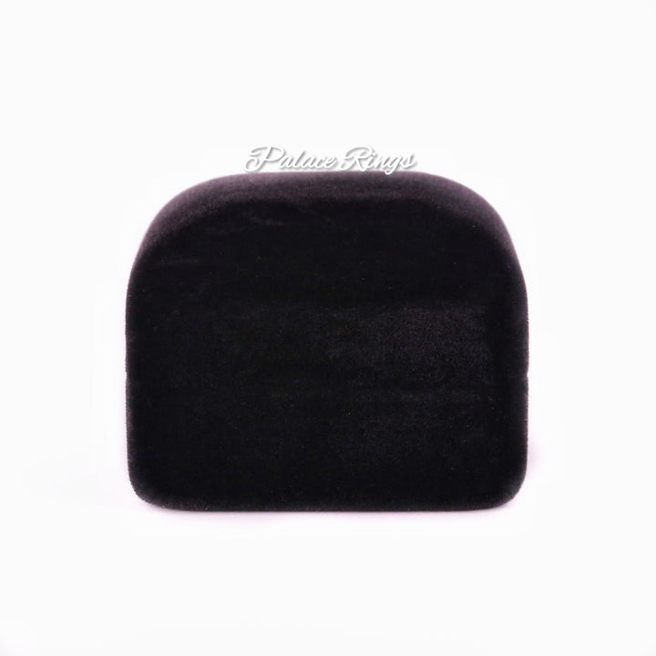 Classic Black Velvet Ring Box