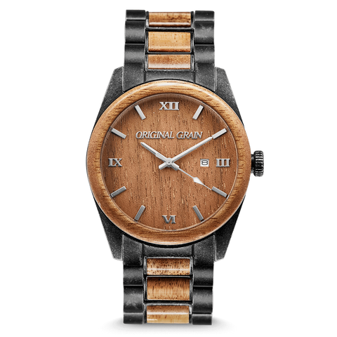 Koa Stonewashed Steel Classic 43mm