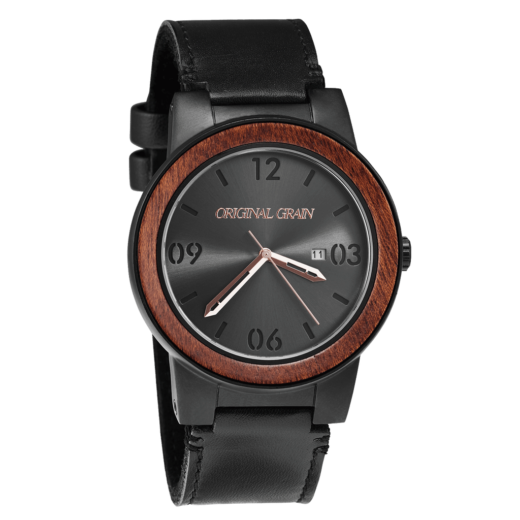 Sapele Black Leather Barrel 47mm