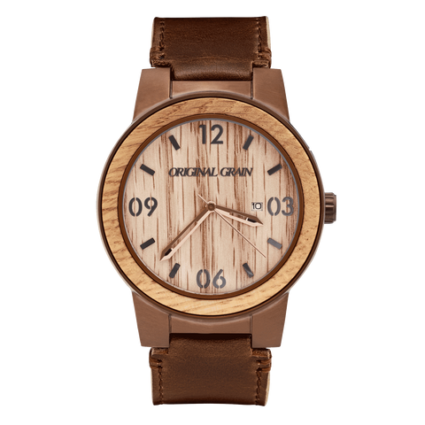 Whiskey Barrel Leather 47mm