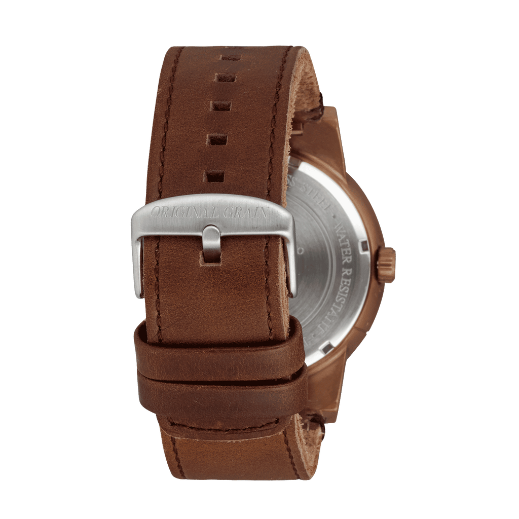 Whiskey Barrel Leather 47mm by Original Grain