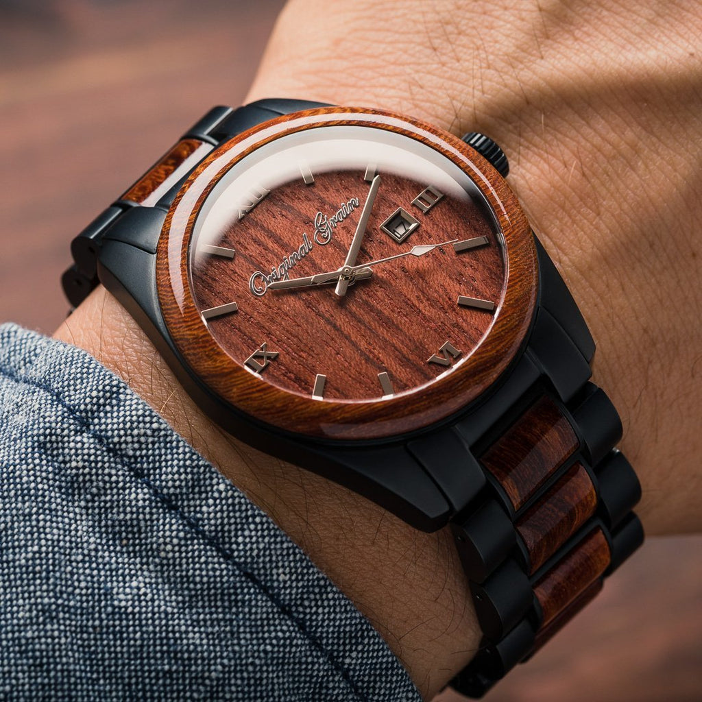 Rosewood Black Classic 43mm by Original Grain