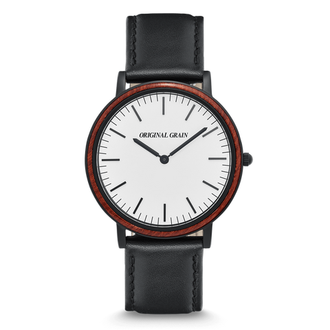 Rosewood Black Minimalist 40mm
