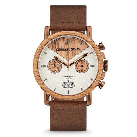 Whiskey Chrono Leather 44mm