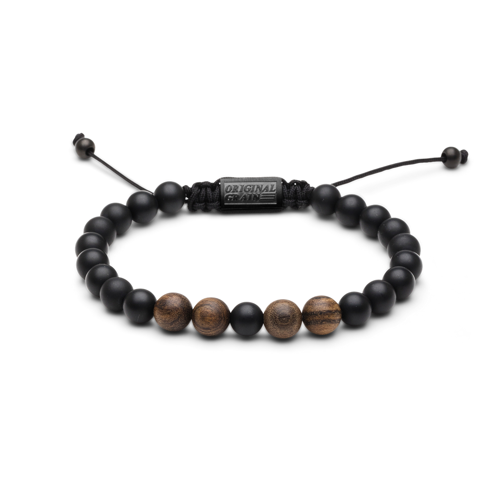 Ebony Onyx Macrame Bracelet by Original Grain