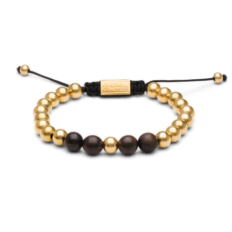 Ebony Gold Macrame Bracelet by Original Grain