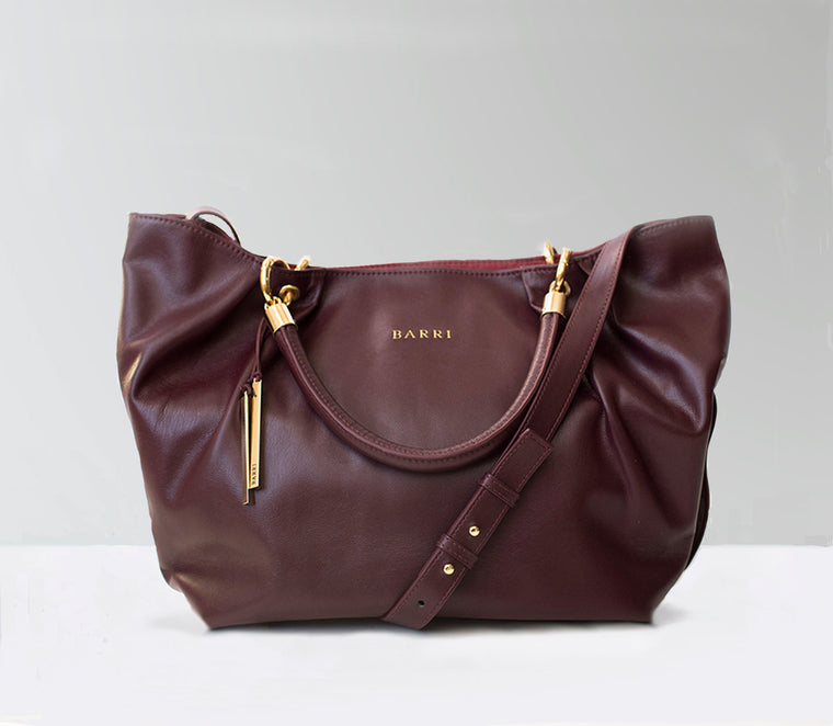 Vegan burgundy bag in wine