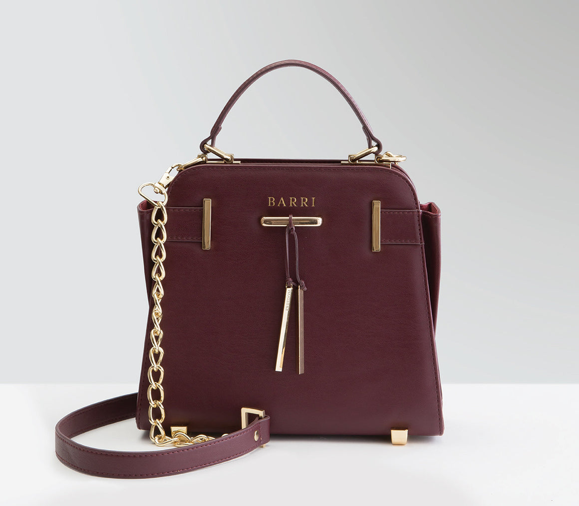 Burgundy vegan handbag