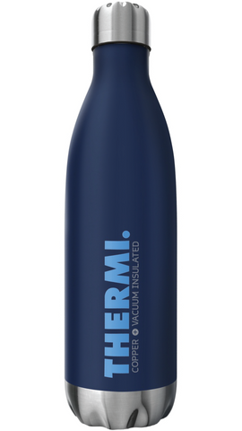 THERMI Double Wall Vacuum Insulated Tumbler - Stainless Steel Water Bottle 25oz (Midnight Blue)