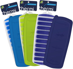 3 Pack THERMI Ice Sticks Silicone Ice Trays with Lid (Frost Blue, Lime Green, Midnight Blue)