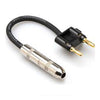 "Hosa 1/4"" TSF to Dual Banana Speaker Adaptor, 16 AWG, 6""- BNP-116BK - Neon Production Supply"