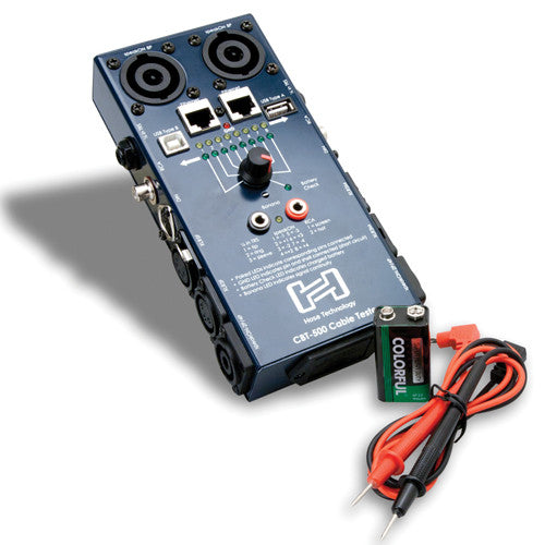 Hosa CBT-500 Audio Cable Tester - Neon Production Supply