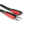 "Hosa 2x 1/4"" TSM to 2x RCAM Adaptor Cable, 3' - CPR-201 - Neon Production Supply"