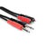 "Hosa 2x 1/4"" TSM to 2x RCAM Adaptor Cable, 3' - CPR-201"