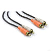 Hosa Dual RCA M to Dual RCA M Cable, Gold Contacts, 3' - CRA-201AU - Neon Production Supply