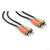 Hosa Dual RCA M to Dual RCA M Cable, Gold Contacts, 3' - CRA-201AU