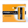 Duracell Procell D Batteries, 12 Pack - Neon Production Supply