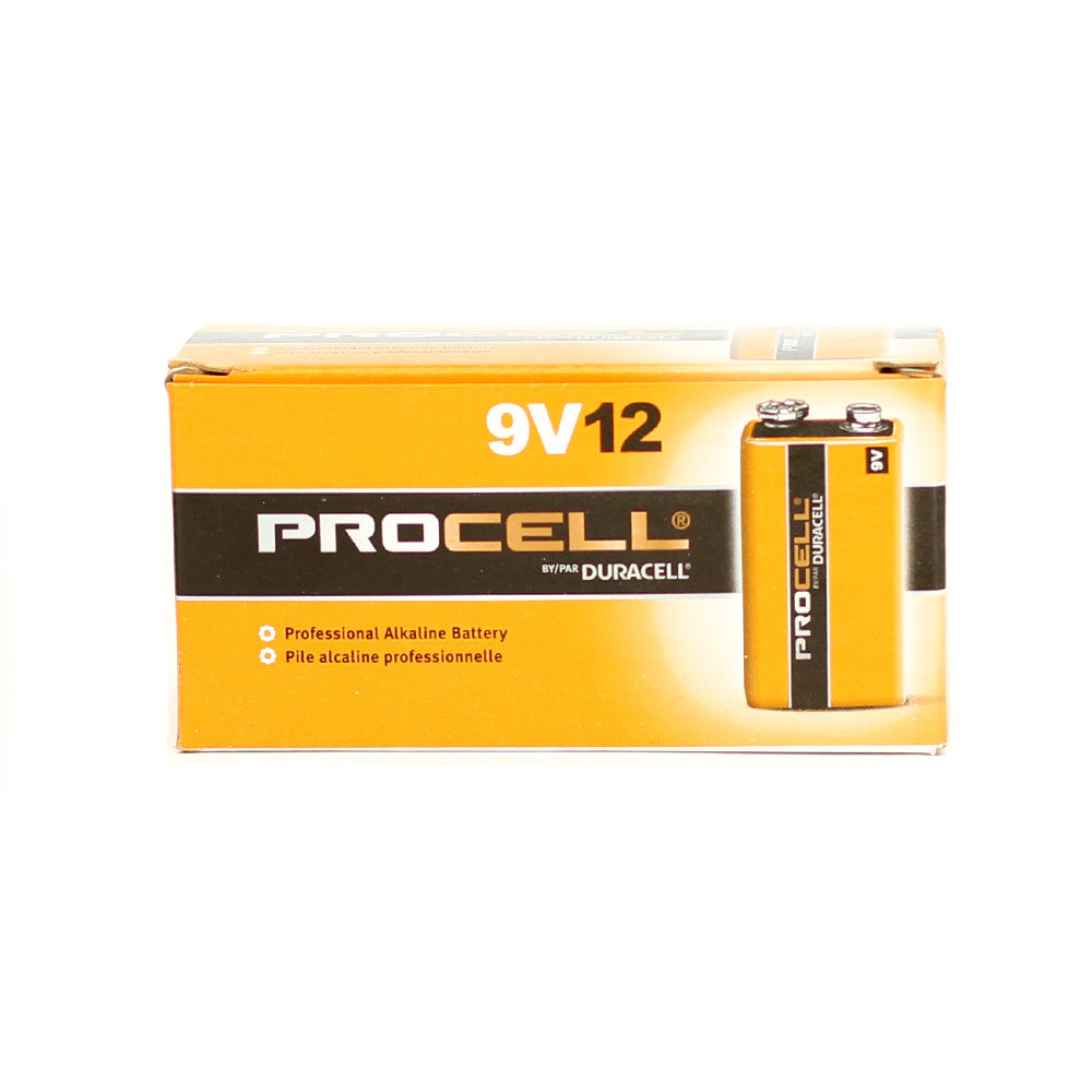 Duracell Procell 9 Volt Batteries, 12 Pack - Neon Production Supply