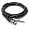 "Hosa Adaptor - 1/4"" TRSM to XLR3F, 1.5' - HXS-001.5 - Neon Production Supply"