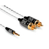 "Hosa Slim 1/8"" 3.5mm TRSM to 2x RCA M, 3' - IMR-003 - Neon Production Supply"