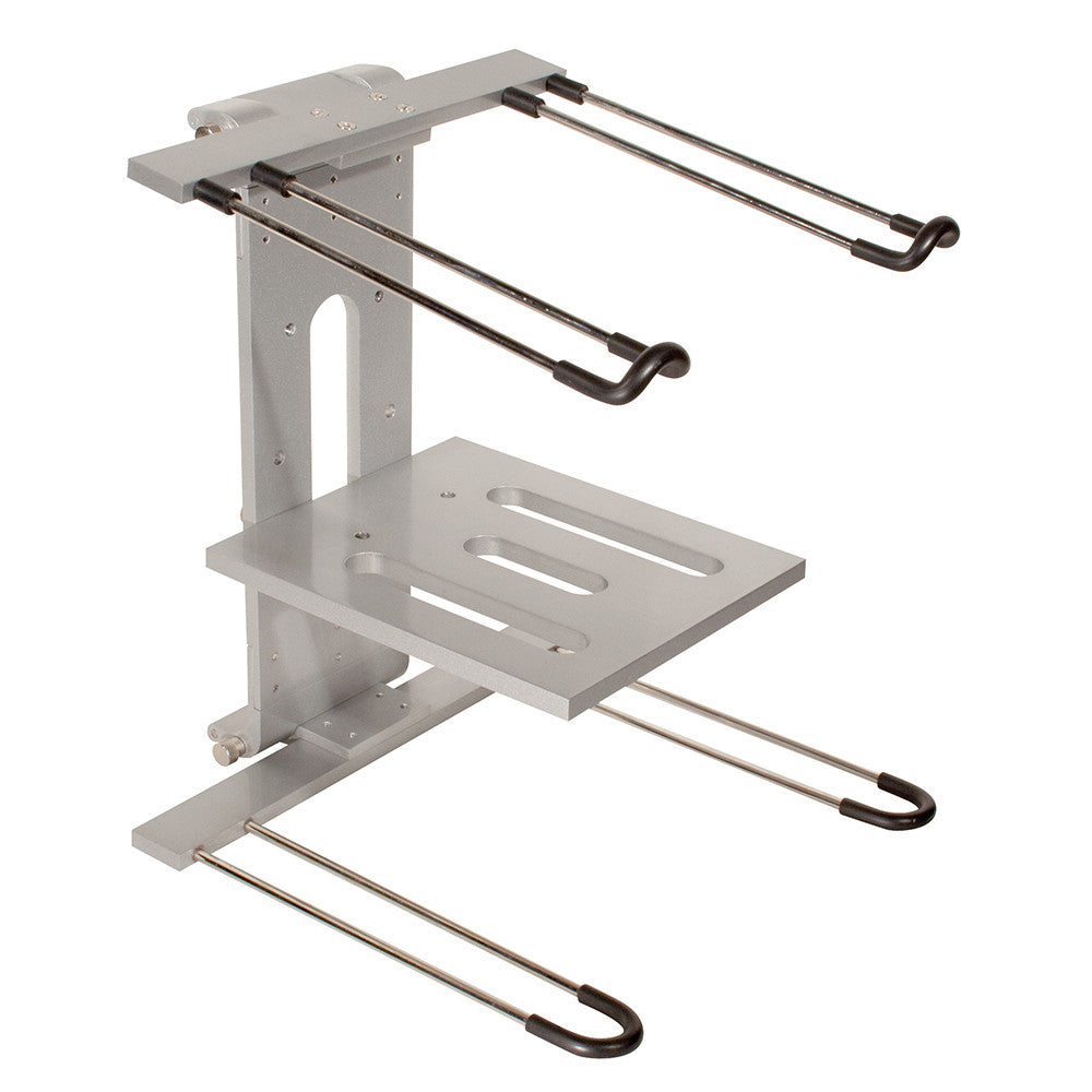 Ultimate Laptop Stand - Double Tier, Silver - LPT400 - Neon Production Supply