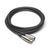 Hosa Microphone Cable, XLR3F to XLR3M, 25' - MCL-125 - Neon Production Supply