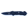 MTech Xtreme Knife - Black Skull Pocket Knife with Belt Cutter - MTX803BKP - Neon Production Supply