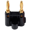 Gold Plated Dual Banana Plug - Black - Neon Production Supply