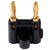 Gold Plated Dual Banana Plug - Black