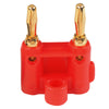 Gold Plated Dual Banana Plug - Red - Neon Production Supply