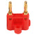 Gold Plated Dual Banana Plug - Red